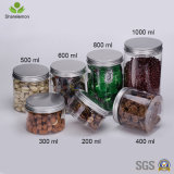 300ml Pet Empty Clear Plastic Herbe's Food Storage Jar