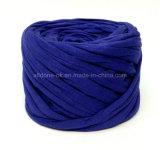 Tejer a mano el hilado elástico reciclado Zpagetti ecológico Crocheting de la camiseta del algodón
