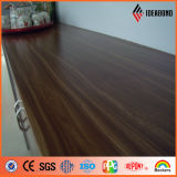 Ideabond Ae-303 moderniza el panel compuesto de la mirada de madera del estilo para la cabina y la cocina (el arce oscuro) de la oficina