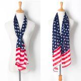 Form-billig gedruckter Polyester-Schal mit Amercian Nation-Markierungsfahne (HP13)