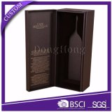 Doos van de Gift van de Wijn van het Ontwerp van de manier de Vastgestelde voor de enige Verpakking van de Fles met het Schuim van EVA