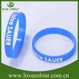 Reciclado de encargo del partido Identificación correas pulsera de la pulsera de goma de silicona