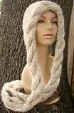 Scialle incappucciato Hand Knitted su ordinazione della sciarpa fatto in Cina
