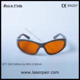 Se divierte el tipo de gafas de seguridad de laser 532nm y 1064nm para 2 la línea YAG y Ktp/retiro 200-540nm y 900-1100nm del tatuaje con el marco 55