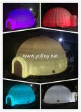 Tente de dôme à LED attrayante gonflable avec lumière