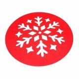3mm u. 5mm Schneeflocke-Form-Polyester 100% Placemat für Tischplatte