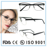 Aucune lunetterie optique en verre en acier inoxydable de monocle de mode de MOQ