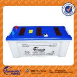 A bateria direta 160ah Coreia da fábrica 12V projetou a bateria de carro acidificada ao chumbo do Mf JIS do cálcio