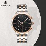 Fascia di cuoio Wristwatch71166 del &Steel di Rolexable del quarzo di qualità superiore del cronografo
