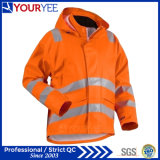Heavyweight Windbreaker Waterproof Reflective Hi Vis Rain Jacket (YFG114)