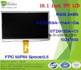 """10.1 """" étalages de TFT LCD de 1024X600 RVB, 50pin pour la position, sonnette, médicale, véhicules"""