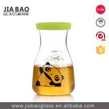 de Fles van de Thee van het Glas van Borosilicate van het Deksel van het Bamboe 500ml Pyrex