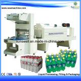 Máquina de embalagem de filme PE para garrafas de suco
