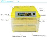 透過自動小型卵の定温器のデジタル96鶏の卵の定温器