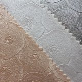 Cuoio sintetico del PVC di disegno floreale per la tappezzeria della parete