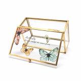 De professionele Doos van de Juwelen van het Glas van de Productie met Patroon jb-1062 van de Vlinder