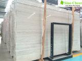 白い静脈の価格の薄い灰色の木の穀物の大理石の平板