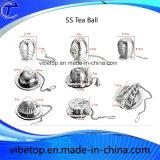 チェーンホックが付いている球の形のステンレス鋼の茶漉し