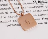 Rosen-Gold überzogene Edelstahl-Schmucksache-Verschluss-Halskette der Form-Necklace-00249