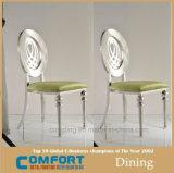 Preiswertester Hochzeits-Stuhl, der Edelstahl-Bein-Möbel speist