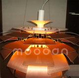 Europese Versie 100% pH van de Denneappel van het Aluminium van de Replica de Lamp van de Tegenhanger van de Artisjok met Wit en de Kleur van het Koper