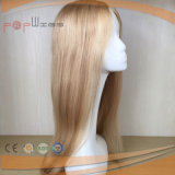 Transparent Poly Coated Full Yaki Straight V Loop Full Silicone Women Wig