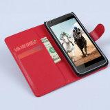 Da aleta colorida do livro dos doces caixa de couro da carteira do plutônio para HTC