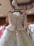 Splendido fuori dal vestito da cerimonia nuziale della spalla a colori