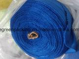 زرقاء لون [ميكروفيبر] منديل [كلنينغ كلوث] في لف في مادّة مختلفة
