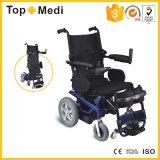 의학 제품 힘은 Legrest 벨트를 가진 전자 휠체어를 위로 서 있다