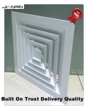 Aluminiumdecken-Luftauslaß deckt Decken-Luftauslass-Diffuser (Zerstäuber) ab