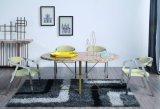 Soem-Edelstahl-Speisetisch mit Marmortisch-Oberseite