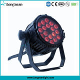 Outdoor Waterproof 18PCS 10W DMX LED PAR Lighting para o clube