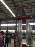 Platform van het Werk van de Mast van de Lift van de mens het Dubbele Lucht