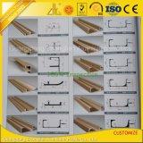Perfil de alumínio revestido anodizada/do pó extrusão para gabinetes de cozinha