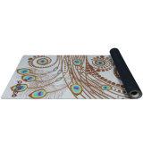 Stuoia antisdrucciolevole di yoga della pelle scamosciata dell'albero della stuoia di gomma naturale di yoga con stampa su ordinazione