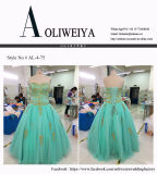 Оптовая продажа Aoliweiya подгоняет платье выпускного вечера вечера Aqua