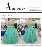 A venda por atacado de Aoliweiya personaliza o vestido do baile de finalistas da noite do Aqua