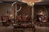 家具の居間の本革のソファーセット