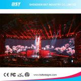 Schermo commerciale della parete della visualizzazione di LED dell'affitto di P3.91mm video con la H angolo di vista di 140 gradi