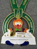 高品質の円形浮彫りは鋳造物によってエナメルを塗られる金属メダルを停止する