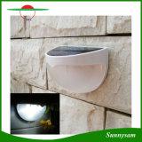 Lampen-Licht-Fühler-Zaun-Rinne-helle im Freiengarten-Wand-Solarlampe der Sonnenenergie-6LED
