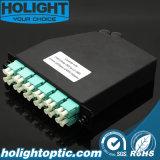 24f MPO à gaveta do módulo da fibra óptica do LC Om3