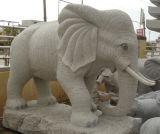 Granito gris Bea/piedra animal del gato/del caballo/del pájaro que talla/escultura animal/estatua animal