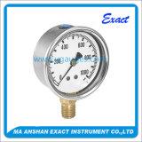 일반적인 사용 액체에 의하여 채워지는 기계적인 구경측정 기계 압력 계기