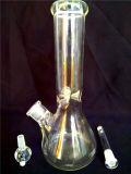 Pipes de fumage pourprées AA-030 de conduites d'eau de rose en verre de vert