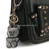 Chaîne principale de charme de sac de porte-clés de véhicule de trousseau de clés d'ours de charme de sac à main de mode