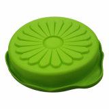 Le tournesol a formé le carter de pizza de plaque de nourriture de moulage de gâteau de silicones de FDA/LFGB