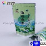 Saco de pé personalizado do empacotamento plástico de folha de alumínio com o Ziplock para o chá verde