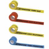 PEの裏付けの提供のロゴプリントが付いている非接着剤の警告テープ